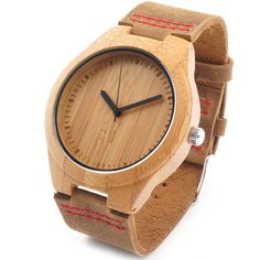 Bobobird RT0434 Ladies' Brand Luxury Wooden Bamboo Watches With Real Leather Quartz Watch in Gift Box