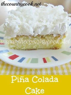 Piña Colada Poke Cake...this is a little different than the recipe I usually use...will have to try sometime!
