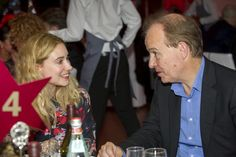 Sarah Mansfield and Peter Bradshaw at the dinner following Eisenstein's October