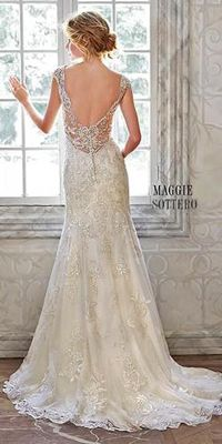 Vintage Wedding Dresses Romantic beaded dress with detailed beadwork - All wedding dresses by Maggie Sottero are feminine, seductive, peculiar and charming. See the best of romantic wedding dresses by this talanted designer! Maggie Sottero Wedding Dresses, Lace Wedding Dress, Perfect Wedding Dress, Dream Wedding Dresses, Designer Wedding Dresses, Maggie Sottero 2017, Romantic Wedding Gowns, Wedding Vintage, Wedding Rustic