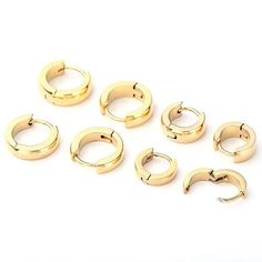 8pcs Polished Stainlss Steel Hinged Small Hoop Stud Earrings – Ayliss #silverearrings #fashion #Unbranded #earring #rioritajewelry #goldplated #sterlingsilver #silverearringsforsale #goldhoops #beadedhoops #giftsforwomen #valentinesday #valentines #beadedhoops #turquoiseearrings #turquoisebeads #silverturquoise #love #etsyfinds #gift