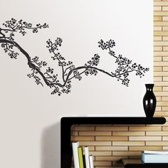 Kamatsu is an oriental style floral design. A detailed wall sticker with natural forms Ideal for installation in corners. Because of the original design it has become one of our most popular floral products.