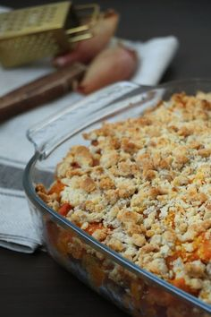 Crumble de potimarron, patates douces et châtaignes Plat Vegan, Fall Recipes, Macaroni And Cheese, Food And Drink, Veggies, Vegetarian, Cooking, Healthy, Ethnic Recipes