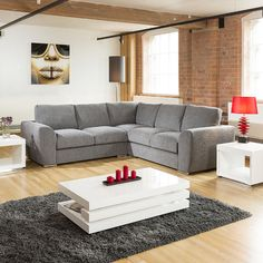 Extra Large L Shape Sofa Set Settee Corner Group Beige Huge designer L shaped corner sofas, choose your fabric, choose your style. Available with coordina Black Sofa, Gray Sofa, Living Room Grey, Living Room Sofa, 5 Seater Sofa, Sleeper Sofa, Sofa Bed, Chaise Couch, Couch Slipcover