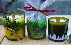 s 15 incredible backyard ideas using empty wine bottles, gardening, outdoor living, repurposing upcycling, Cut bottles in half and make scented candles