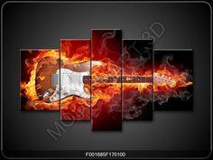Guitarra En Fuego Polipticos Grandes 223519 Galeriamaster