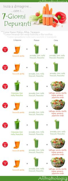 Inizia a dimagrire con la super dieta (che può essere spazzata ogni 3 giorni) 7 GIORNI DEPURANTI di AnimaBiologica