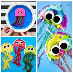 Discover recipes, home ideas, style inspiration and other ideas to try. Fun Crafts For Kids, Preschool Crafts, Diy For Kids, Arts And Crafts, Beach Crafts, Summer Crafts, Activity Toys, Activities For Kids, Ocean Themes