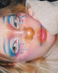 Indie Makeup, Edgy Makeup, Crazy Makeup, Cute Makeup, Pretty Makeup, Face Paint Makeup, Eye Makeup Art, Clown Makeup, Makeup Eyes