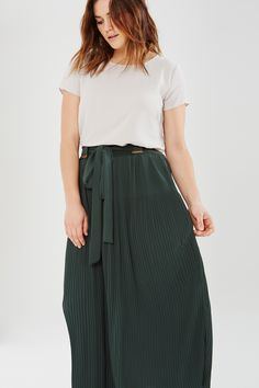 Long Flowing Pleated Skirt