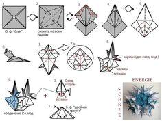 Origami Paper Art, 3d Origami, Origami Flowers, Origami Diagrams, Diy And Crafts, Paper Crafts, Modular Origami, Origami Tutorial, Craft Items