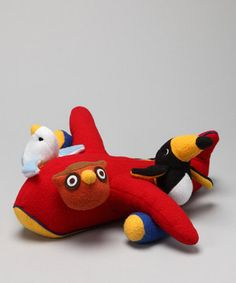 Anatina Toys Travel Friends Airplane Plush Toy