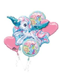 Amazon.com: My Little Pony Birthday Party Balloon Bouquet: Toys & Games