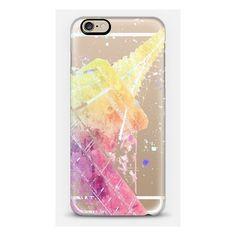 iPhone 6 Plus/6/5/5s/5c Case - PARIS JE TE AIME - PASTEL WATERCOLOR -... ($40) ❤ liked on Polyvore featuring accessories, tech accessories, phone cases, case, france and paris