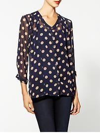 MINKPINK 'Double Take' Polka Dot Chiffon Shirt