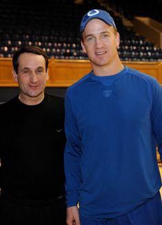 Coach K and Peyton Manning