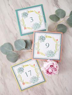 Simple DIY - Printable Table Numbers #6 - Something Turquoise