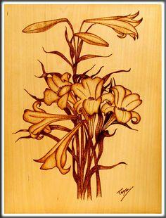 Pirograbado en madera. Hecho por Tona Zamorano