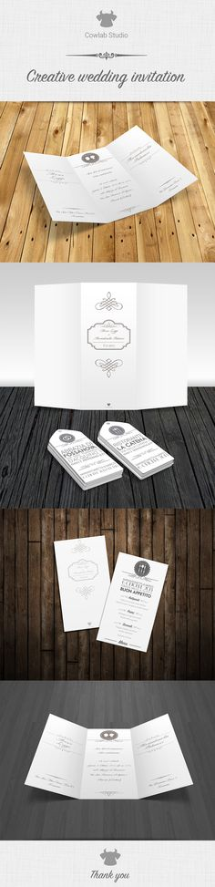 My creative wedding invitation... obviously by Cowlab Studio