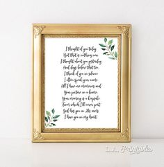 I Thought of You Today Memory Art Print, Wedding Memorial Sign, Remembrance Poem, 8x10 & 16x20 inch, INSTANT PRINTABLE