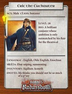 Knights of Baddassdom Character Cards!  Bring this film to a theater near you! http://www.tugg.com/titles/knights-of-badassdom