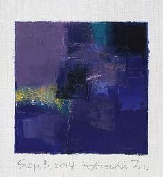 Sep. 5, 2014 abstract oil painting by Hiroshi Matsumoto