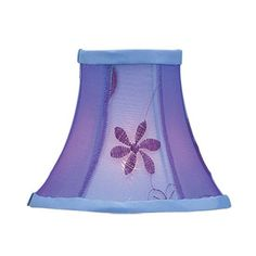 Livex Lighting Chandelier Shade Violet Embroidered Floral Silk Bell Clip Shade S222