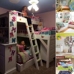 15 Cool Ideas to Add Fun to a Small Kids' Room - http://www.amazinginteriordesign.com/15-cool-ideas-to-add-fun-to-a-small-kids-room/