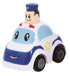 The hat can detach from the policeman's head and pose a choking hazard.