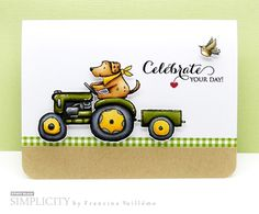 Card by Francine (www.1001cartes.ch) karte, carte, carterie, cardmaking, cardmaker, crafts, papercrafts, handmade, diy, stamping, #1001cartes, penny black stamps, wintertime cheers, tractor and wagon, celebration