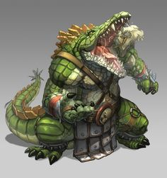 Hi guys, here another character for Louis porter Design. Kroca Sobeka is a antropomorphic crocodrile creature , but I hope you like it. Please visit the. Fantasy Character Design, Character Inspiration, Character Art, Character Concept, Fantasy Kunst, Fantasy Rpg, Fantasy Artwork, Fantasy Monster, Monster Art