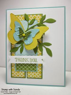 Stampin' Up! Thank You by Stamp With Sandy: Butterfly Thanks,