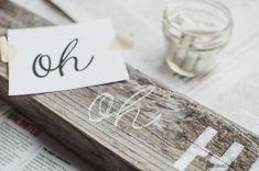 Oh Hello Sign // 2 Ways to Paint Lettering Onto a Rustic Sign