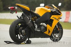 2014 EBR 1190RX static rear 3/4 right-side view.