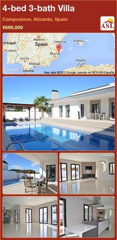 Villa for Sale in Campoamor, Alicante, Spain with 4 bedrooms, 3 bathrooms - A Spanish Life Murcia, Valencia, Alicante Spain, Health Center, Open Plan Kitchen, Sandy Beaches, Private Pool, Cabo, Property For Sale