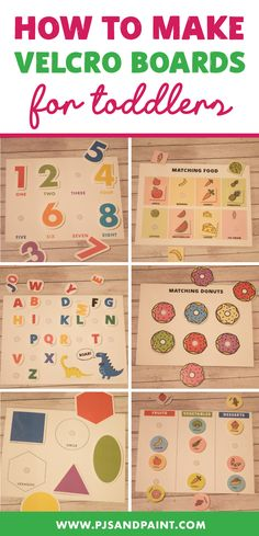 7 DIY Velcro Boards - With Free Printables - Pjs and Paint Diy Learning Books, Preschool Learning Activities, Free Preschool, Preschool Curriculum, Preschool At Home, Baby Learning, Toddler Activities, Toddler Games, Homeschooling