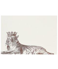 Royal Lounging Tiger A7 Note Cards, Alexa Pulitzer. Shop more from the Alexa Pulitzer collection at Liberty.co.uk