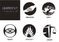 Faction symbols from Divergent - Halloween costume