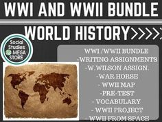 World War One & World War Two - Bundle (World History) ** EMAIL ME FOR THE GOOGLE DRIVE LINK **  for the 10+ videos in this bundle as well as the rest of the bundle.  The bundle has grown bigger than the space allowed. I will email the google drive link for the videos as well as the WWI/WWII Bundle.