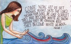 peggy aplSEEDS: Come Now, Let Us Set Things Right: Prayer Journal Illustration