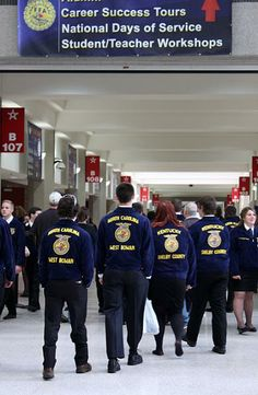 "Why I Farm: Behind the Movement - Wordless Wednesday: Blue Tide - ""In honor of National FFA Convention, we took the Why I Farm movement on the road. This week, we're in Louisville, KY, visiting with more tha..."""