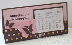 Colour Me Happy: A date or two...& some notes - Mini Desk Calendar