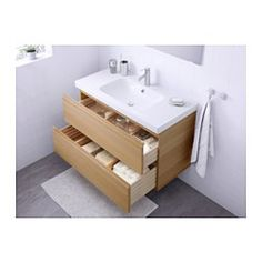 ikea godmorgon odensvik meuble lavabo 2tir blanc garantie 10 ans - 100 Cm Plan Vasque
