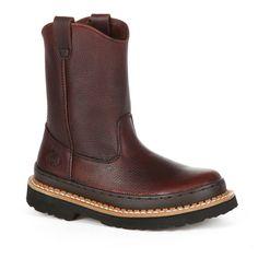 Georgia Boot Georgia Giant Wellington Boys' Pull-On Boots, Size: 10.5T, Brown
