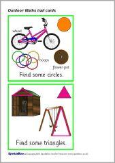 Ned. versie!!! Outdoor Maths trail cards (SB2035) - SparkleBox