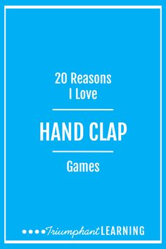 There are a lot of reasons to teach hand clap games to your children. Here are 20 of the reasons I love teaching them to my children. Music Activities, Activities For Kids, Activity Ideas, Preschool Songs, How To Start Homeschooling, Homeschool Curriculum, Brain Gym, Nature Study, Raising Kids