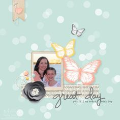 Bokeh Scrapbook Page by Nutmeg Creations Cindy Schuster