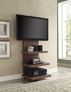 Furniture Cool Custom Modern Vertical Wood Tv Stands With Floating Display Furniture Storage Ideas