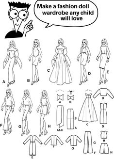 Free Printable Doll Clothes Patterns | ... sewing for dummies doll clothe wardrobe for 11 1 2 inch fashion dolls