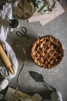 Salted Caramel & Whiskey Apple Pie